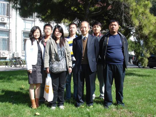 弘成学苑师生与北京交通大学远程与继续教育学院陈庚院长合影